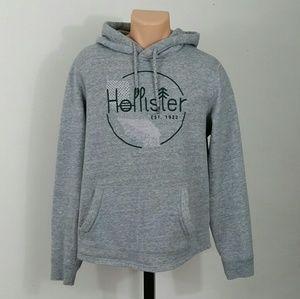 Hollister Men's Hoodie Gray